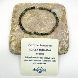 Braccialetto elastico con pietre del benessere (Agata Indiana)