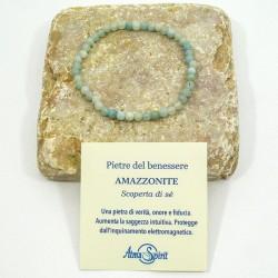 Braccialetto elastico con pietre del benessere (Amazzonite)