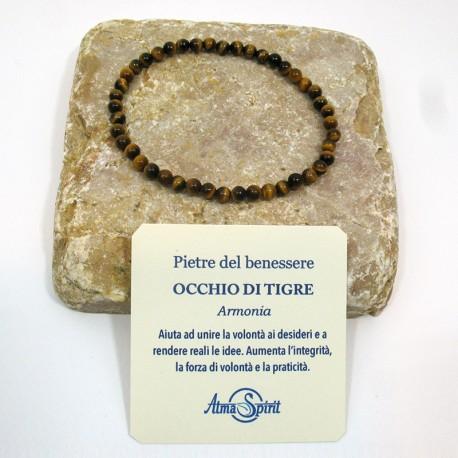 Braccialetto elastico con pietre del benessere (Occhio di tigre)