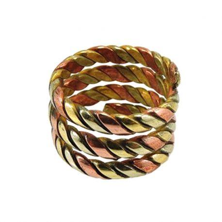 Anello a spirale tre metalli