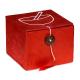 Campana tibetana Om set regalo rosso