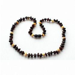 Collana in ambra baltica perle arrotondate multicolore