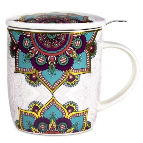Confezione regalo Mug da tè Mandala turchese