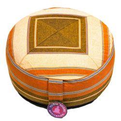 Cuscino meditazione crema/arancio