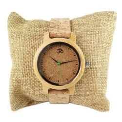 Orologio da donna in legno e sughero