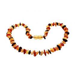 Collana in Ambra Baltica per bambini, perle chips multicolore