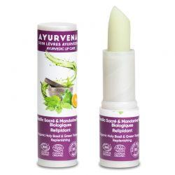 Balsamo labbra organico Ayurvenat Basilico sacro/Mandarino
