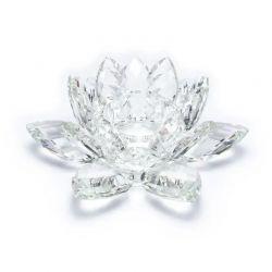 Portacandele Loto in cristallo grande