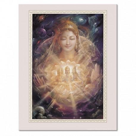 Poster Prakriti - bordo violaceo
